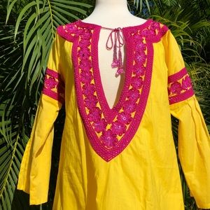 Taj by Sabrina beaded tunic size medium